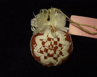 Texas Patchwork Christmas ornament