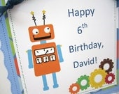 Personalized Robot Birthday Door Sign Children Birthday Party Accessories Room Decor Boy and Girl