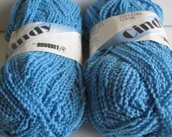 2 skeins of Bouquet Cindy cotton look yarn destash