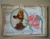 Original ACEO  Altered Art Collage Victorian - Rose