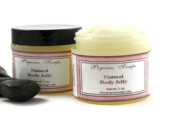 No Petroleum Natural Body Jelly 2oz You Select Your Scent
