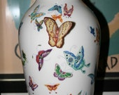 Porcelain Vase with Butterflies, Collectible