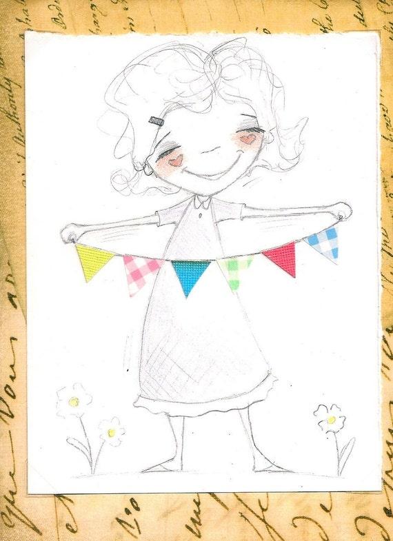 Daily Duda Doodles - Affordable Original  Sketch by Diane Duda