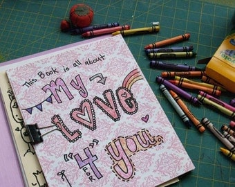 printable PDF DIY love letters art journal for the one you love on Father's Day