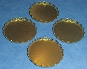 12 pcs. brass lace edge cabochon settings 22mm  - f2040