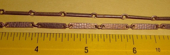 3 feet copper coated bar chain - 16x3mm links - f1489