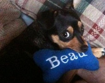 Personalized Bone Squeak Toy small