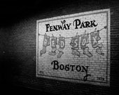 Fewnway Park Mural 8x10 Black and White Photographic Print