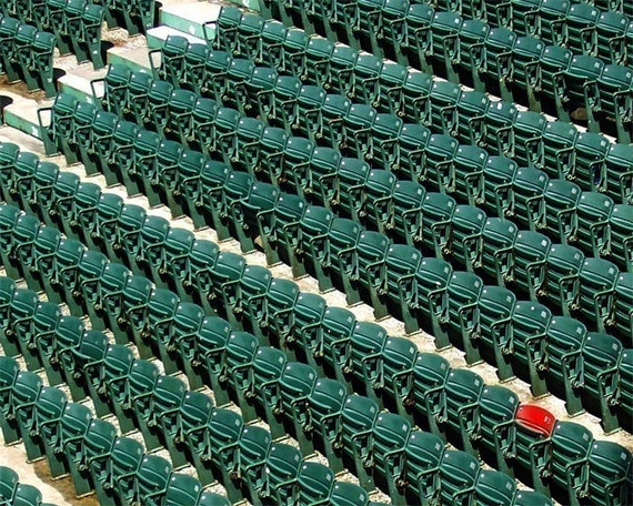 Fenway Park Red Seat - 5 x 7 Color Print