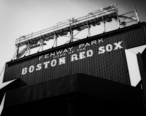 Home of the Red Sox - 8x10 Black and White Photographic Print