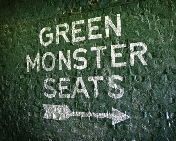 Fenway Park S Green Monster Seats 8x10 Photographic