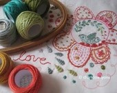 looped stitching sampler
