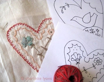 PDF hearts and flowers stitch designs