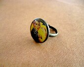 Rosie the Riveter Vintage American Penny Ring//recycled repurposed  eco gift Lucky Penny