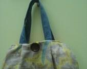 Fabric Bag, Shoulder Bag, Floral Bag, Linen Bag, Floral Purse, Handbag, Linen Purse, One of a Kind Bag, Bag, Purse, Handmade Bag