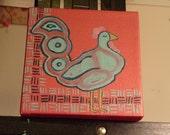 Original Rooster Painting, Leela