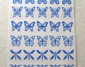 Dichroic Glass Etching Stencils, Vinyl Butterfly & Dragonfly Stencils, With PDF Tutorial for Etching Dichroic Glass