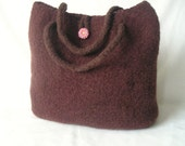 Easy Knitting Pattern Knit Bag Pattern Tutorial, How to make Knit Felted Bag, Instant Download