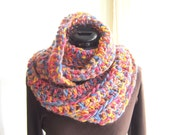 Easy Loop Scarf Crochet Pattern Tutorial, Crochet Scarf Pattern, Instant Download file