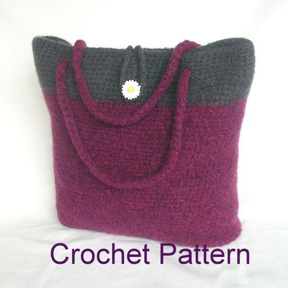 Crochet Simple Bag : to Easy Crochet Bag Pattern Tutorial pdf, Simple Felted Bag Crochet ...