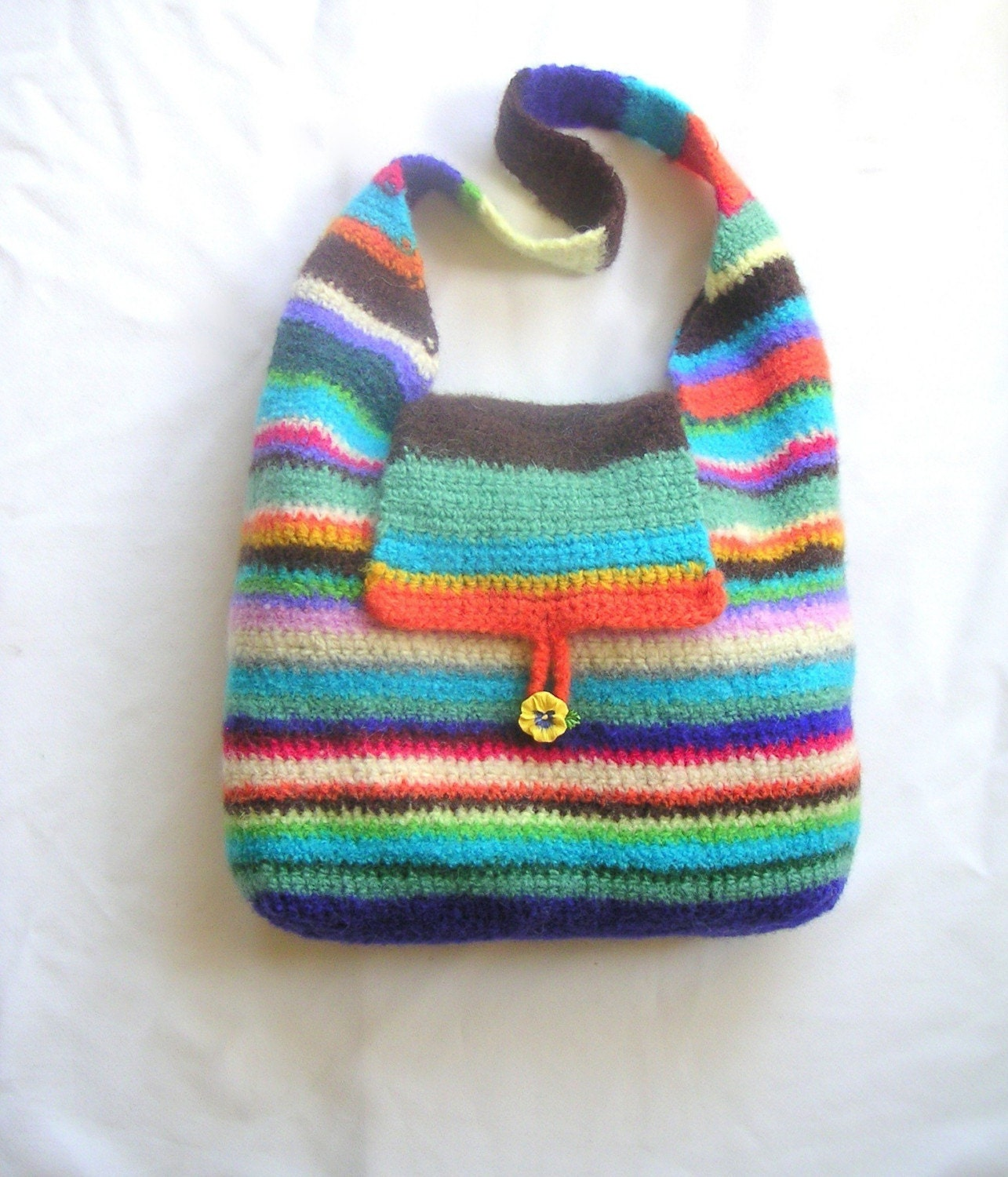 Crochet Hobo Bag Pattern : Classic Hobo Bag Crochet Felting Pattern by GraceKnittingPattern