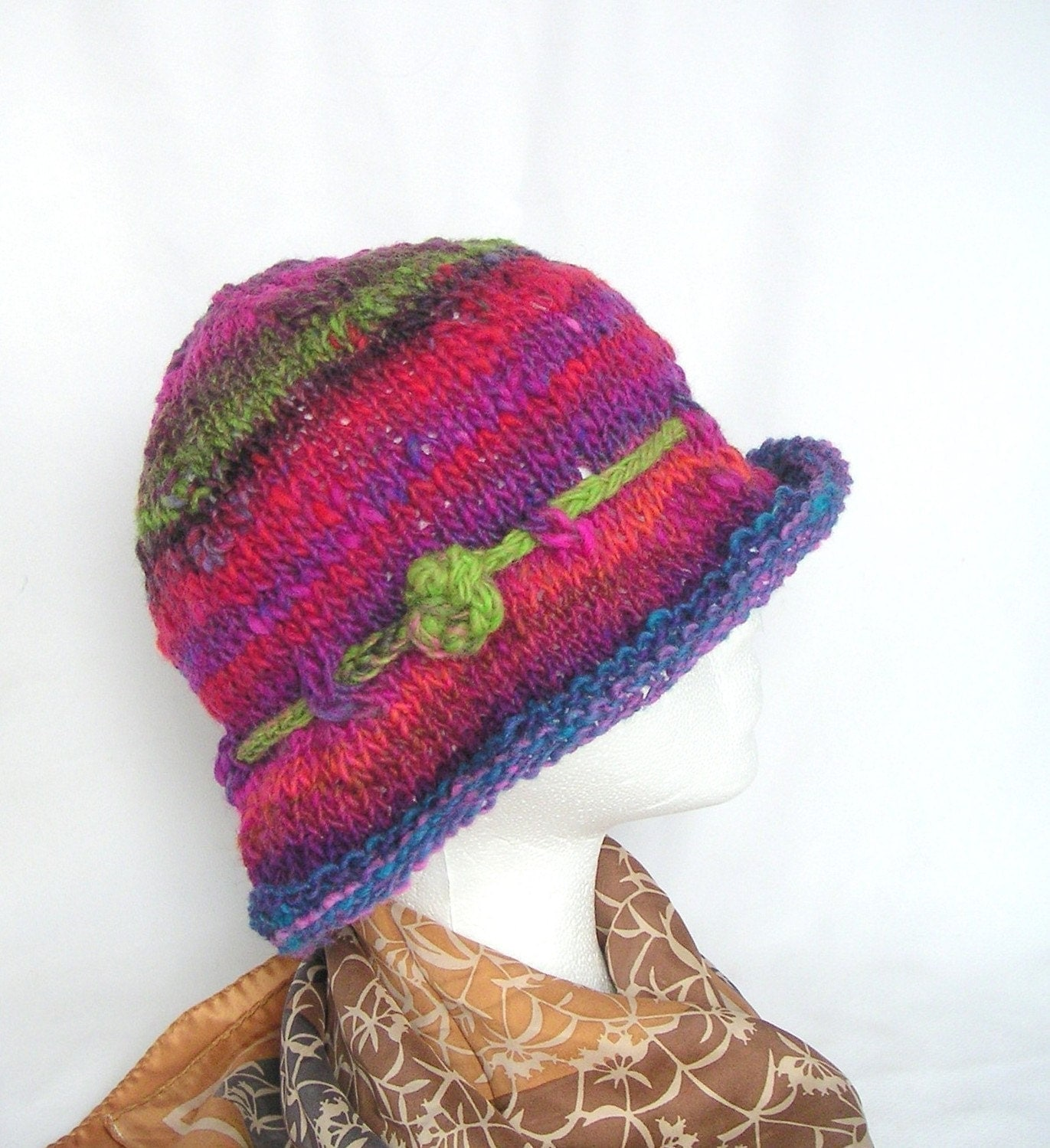 Simple Hat Knitting Pattern In The Round : Simple Knit Hat Knitting Pattern Easy Knit by GraceKnittingPattern