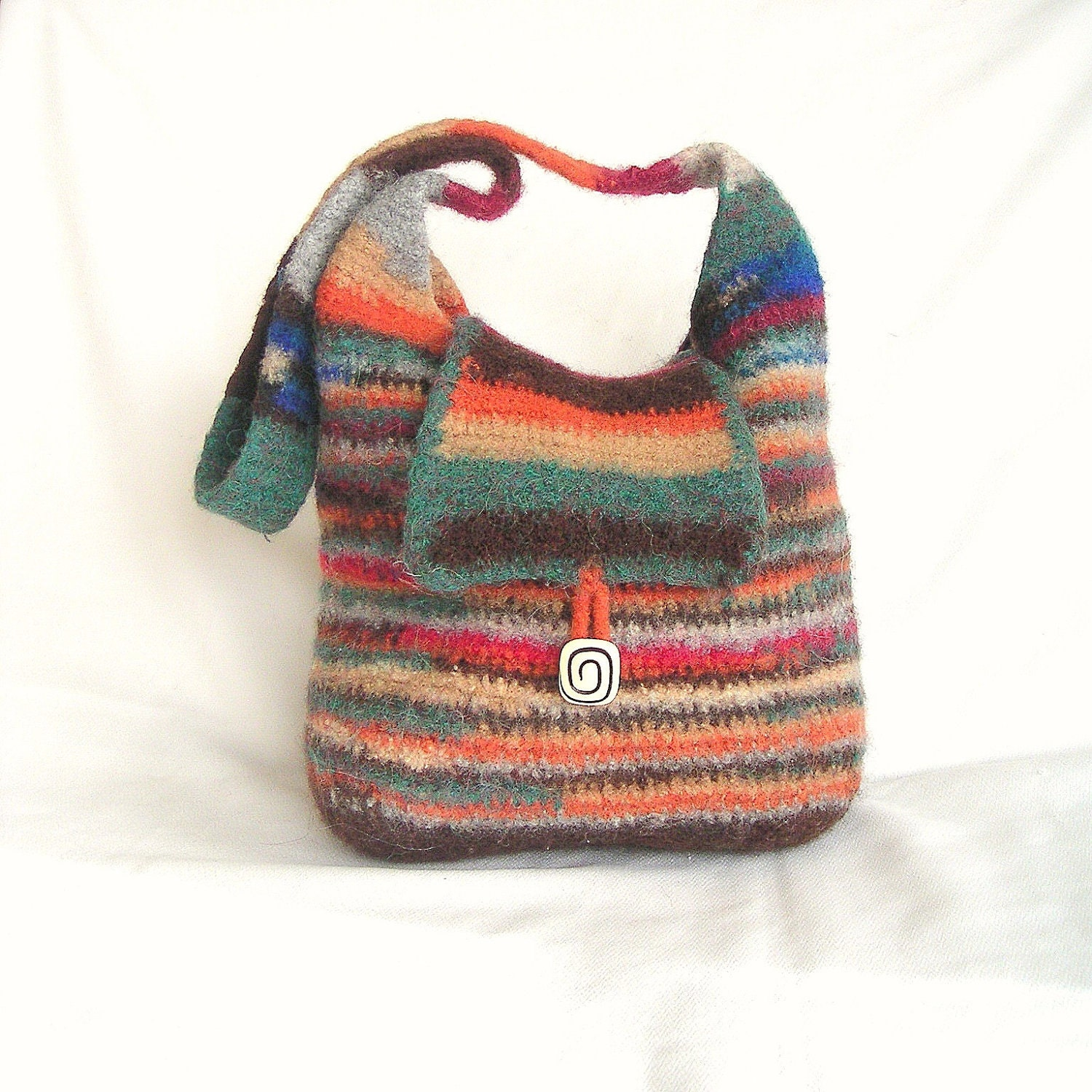 Crochet Felted Tote Bag Pattern : Mix Color Felted Bag Crochet Pattern by GraceKnittingPattern