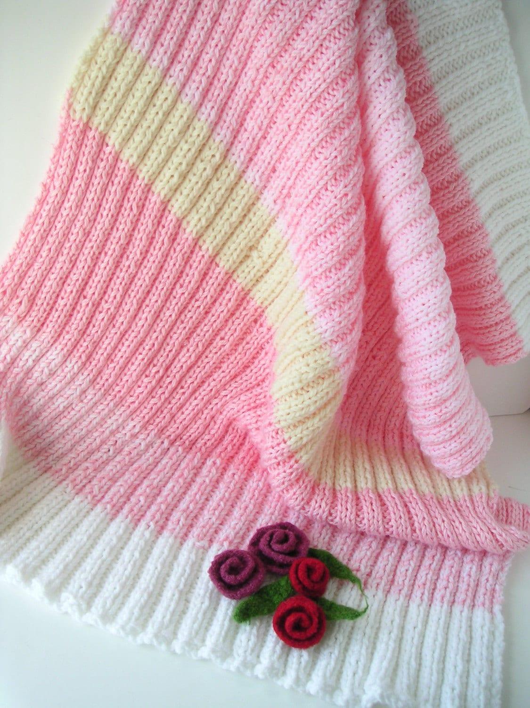KNITTING PATTERN Knit BABY blanket by GraceKnittingPattern ...