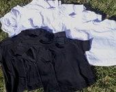 Blank Rabbit Skins Tshirts Black or White