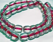 Fuschia in Ice- vintage color lined beads