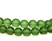 Peridot Princess- recycled sea glass beads
