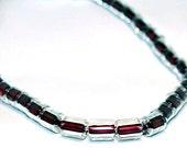 More Rhubarb Please- vintage glass beads
