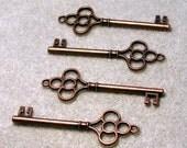 Secret Key III- antiqued copper pendant