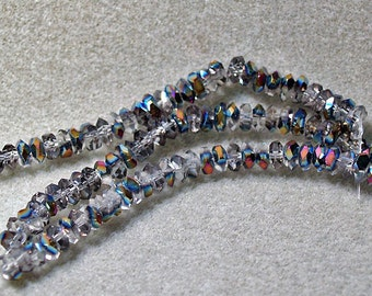 Ice Crystals- faceted crystal rondelle beads