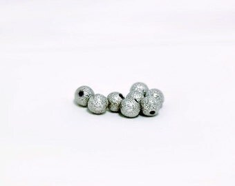 Silver Stardust Beads- silver pewter spacer beads