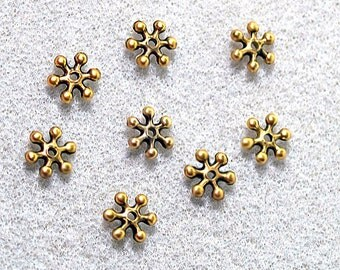 Whirlwind- gold spacer beads
