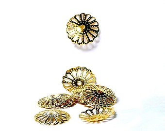 Gold Lace- bead caps