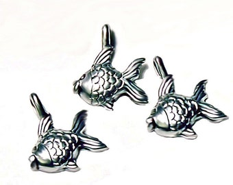 Little Silver Fish Charms
