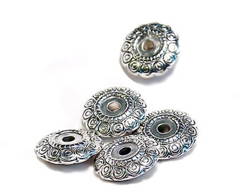 Aztec Silver- pewter beads