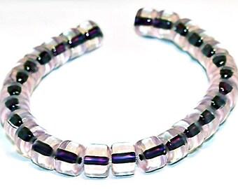 Grape Jelly- vintage glass beads