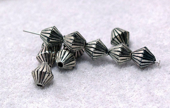 Silver Bicone Spacer Beads