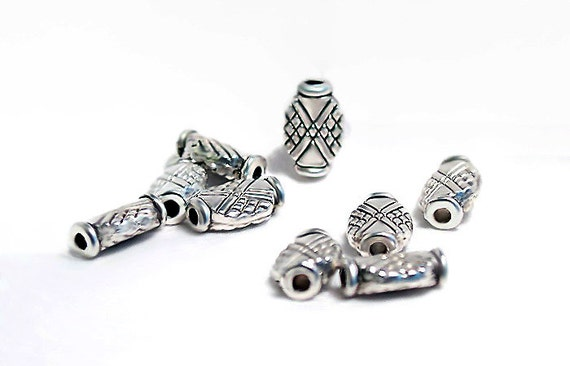 Apache Maiden- pewter spacer beads