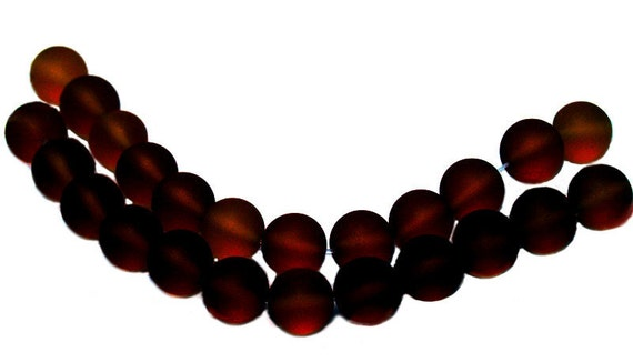 Rootbeer- recycled sea glass beads