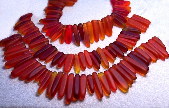Wild & Hot- recycled sea glass beads