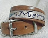 Tattoo Swallow Dog Collar with Banner