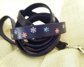 Female Dog Collars - Purple - Dog Collar - Flowers