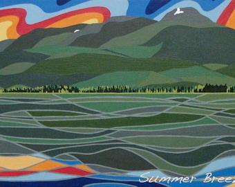 Gunsight Peak (Lakelse Lake, BC) Original Artwork Magnet