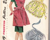 Simplicity 2351 medium women's and misses' apron set from the 1940s pattern