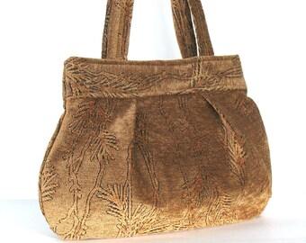 Fabric purse , vegan day and evening bag ,  women  handmade handbag , top handle bag ,wife gift , women fabric bag , gift for her