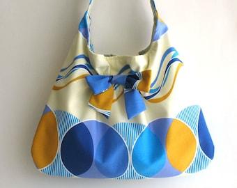 Summer hobo bag  ,  summer shoulder bag , vegan slouch handbag  , handmade hobo purse , hobo bag purse , handbag purse , beach fabric bag